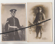 TWO POSTCARDS - SERGT W. BOOTH KILLED 1918 & PTE C.BOOTH - HAMPSHIRE REGIMENT ??
