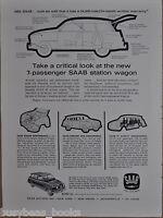 1963 SAAB 95 advertisement page for SAAB 95 station wagon