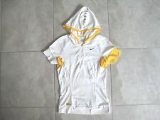 NIKE LIVESTRONG Ladies White Hooded 1/3 Pullover Cycling Biking Jersey USED S