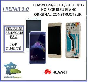 Ecran Complet sur Châssis Huawei P8/P8 Lite/P8 Lite 2017 Noir/Or/Bleu/Blanc