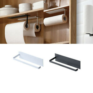 Kitchen Paper Towel Rack Toilet Roll Holder Wall Mount Tissue Self-Adhesive ^UK