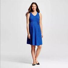 Liz Lange Maternity Dress Size S Blue & Black