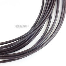4.7Yards (in 3pc) Round Dark Brown Genuine Leather Cord for DIY Jewelry/Necklace