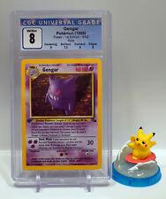 1999 Pokemon 1st Edition HOLO Gengar #5/62 CGC 8 - NM/MINT - Fossil PSA | BGS