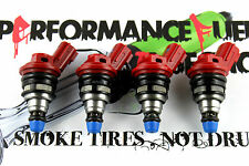 4 - 555cc JECS Fuel Injectors Fit Nissan KA24DE Turbo 240sx Altima Bluebird