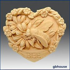 Garden Bee - Detail of high relief sculpture - Soap/Clay silicone Mold