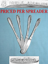 Towle Sterling Flat Handle Butter Spreader(S) ~ Madeira ~ No Mono