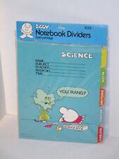 Vintage 1979 Ziggy American Greetings School Notebook Binder Dividers Sealed