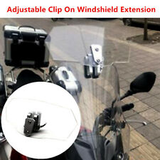 1PC Motorcycle Scooter Adjustable Clip On Windshield Extension Spoiler Deflector