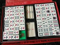 Vintage Chinese Mahjong Set Bone & Bamboo Dovetailed Age Unknown 228 + Pieces