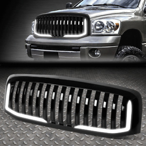 [U-LED DRL]FOR 06-09 DODGE RAM 1500 2500 3500 GLOSSY VERTICAL FRONT GRILLE GRILL