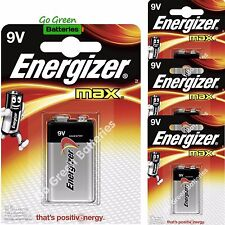NEW 4 X PACK Energizer Battery Max 522 9V Batteries Alkaline VOLT SINGLE USE Lot
