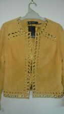 Women's Events Gold Eyelet Suede Jacket Size 8 and 12