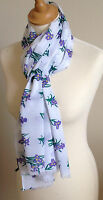 NEW 100% COTTON WOMEN'S IRIS FLORAL PRINT SCARF BY JUNIPER