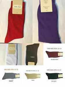 Men's 1 Pairs High Quality Solid Color Dress Socks One Size 10~13