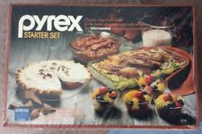 Vintage Pyrex Ware 9 Piece Starter Set CLASSIC CLEAR BAKEWARE 1208 NEW & SEALED