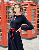 Boden Kleid - Elsie Ponte Dress - Jersey Stretch Navy NEU - UK 8 P EU 36