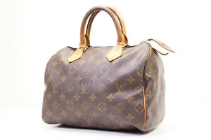 Auth Pre-owned Louis Vuitton Monogram Speedy 25 Duffle Hand Bag M41528 210295