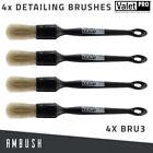 4x ValetPRO Detailing Brushes For Valeting Wheels Bodywork Interior Vents (BRU3)