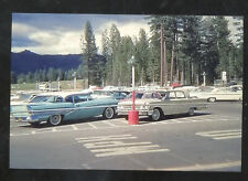 LAKE TAHOE CALIFORNIA PARKING LOT OLD VINTAGE CARS POSTCARD COPY
