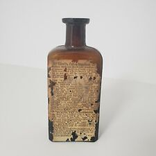 Antique Medicine Bottle Apothecary Primitive Glass Canute Water