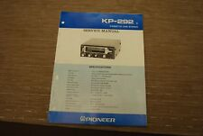 Pioneer KP-292 Car Stereo cassette player  Original Service manual