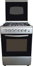 Cucina con forno ELETTR silver/inox 60x60 4F metano o GPL grill e acc. elettrica