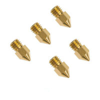 5pcs 0.4mm Copper Extruder Nozzle For Creality CR-10 Ender 3 Pro 3D Printer