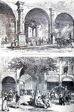 Havana Cuba 1880 GENERAL GRANT VISIT PRADO CAPTAIN GENERAL PALACE Matted Print