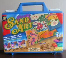 Amav Sand Art Kit In Carrying Case Makes 3 Pictures Ocean Swan Birds New