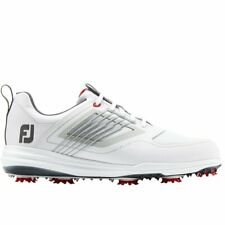 Footjoy Mens Fury Golf Shoes - White  **SALE**  leather spiked waterproof