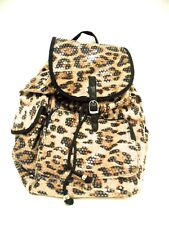 Backpack Sequin Leopard Bling Handbag Women Girls School Gym Books Cheer Luggage