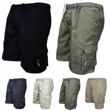 Mens Sports Army Combat Cargo Short Pants with Drawstring Casual Trousers Shorts