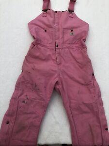Carthartt  Pink Zeeland Sandstone Bib Overall Size 12x30 WR027 PKR
