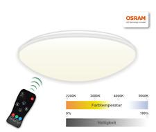 Visolight D240TW LED Deckenleuchte mit Fernbedienung, 14 Watt, 2200K - 5000K