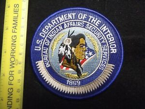 Federal Interior Indian Tribal Tribe BIA Police LEO patch rare HTF