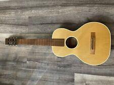 Vintage CASTILE Midwest Music Acoustic 6 String Parlor Guitar Natural 1970s