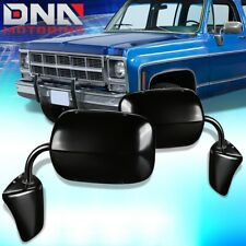 FOR 73-86 CHEVY GMC C/K PICKUP SUBURBAN PAIR MANUAL SIDE DOOR MIRROR REPLACEMENT