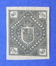 1875 ANDORRA SPANISH 40C UNISSUED STAMP SCOTT# - MICHEL #- UNUSED IMPERF CS25522
