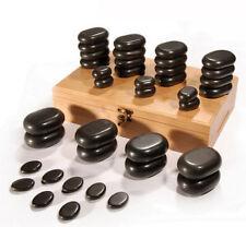 DevLon NorthWest Hot Stone Massage Kit Basalt Stones Set With Bamboo Box 36 Pc