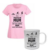 TRIATHLON MUM - Triathlete / Themed Funny Gift Idea Women's T-shirt & Mug Set