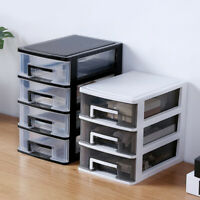 Storage Cabinet Drawer Cosmetic Jewelry Desktop Organizer Container 2/3/4 Tiers