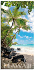 Panoramic Hawaiian Refrigerator Magnet - Hamoa Beach by Michael & Monica Sweet