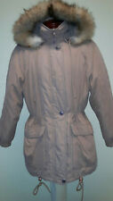 Forecaster Of Boston Winter Coat Beige Fur Lined Removable Hood Size Small