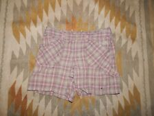 The North Face Women's 8 ~ Pink & Brown ~ Plaid Nylon Shorts ~ Unlined
