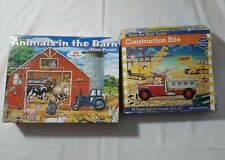 FLOOR PUZZLES FARM AMIMALS AND CONSTRUCTION SITE