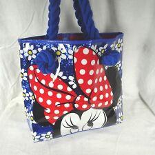 Disney Store Tote Swim Beach Bag Blue Sparkle MINNIE MOUSE Rope Handles