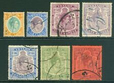 King George VI Ceylon revenue stamps. Values to 1000r. Good to fine used...