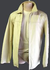 off white leather jacket m medium biker motorcycle cafe shirt 80s vintage elvis