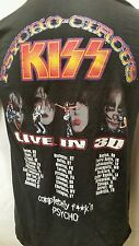 KISS BAND PSYCHO MUSIC CIRCUS LIVE IN 3D CONCERT T-SHIRT